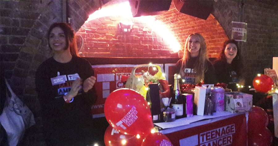 Event Academy students holding fundraising event for Teenage Cancer Trust